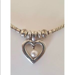 Brighton Jewelry - Brighton, Stunning Silver Pearl Heart Necklace!
